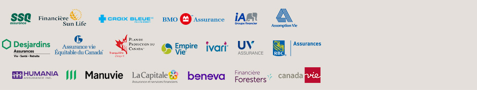 manuvie, rbc, bnc, great west, la capitale, industrielle alliance, desjardins, sun life